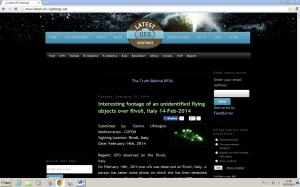 Home page Latestufosightings
