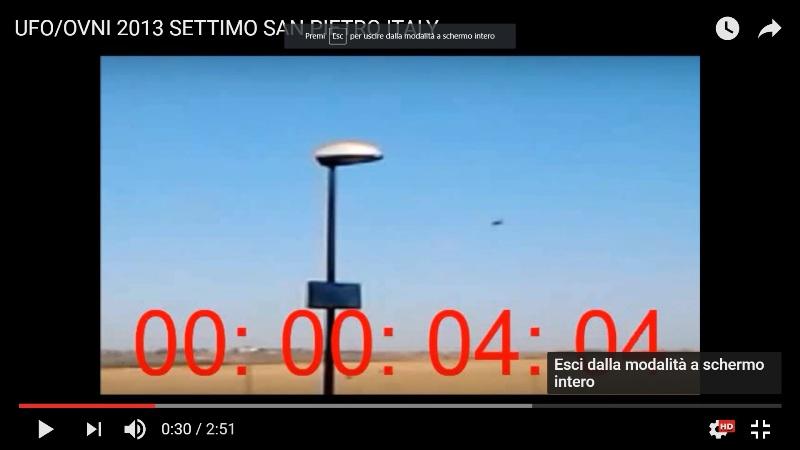 Frame tratto dal video dell'ufo di Settimo San Pietro indagato dal C.UFO.M.