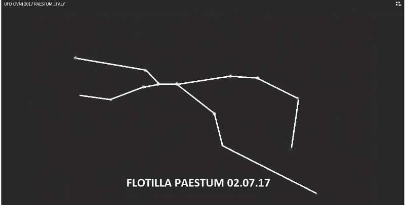 Immagine 8. Ecco il disegno che si ottiene collegando tra loro gli oggetti volanti non identificati di Paestum.