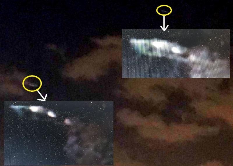 I due eccezionali ufo di Arco Felice (NA) avvistati, filmati e fotografati il 12 agosto 2017 in piena notte da tre testimoni allibiti.