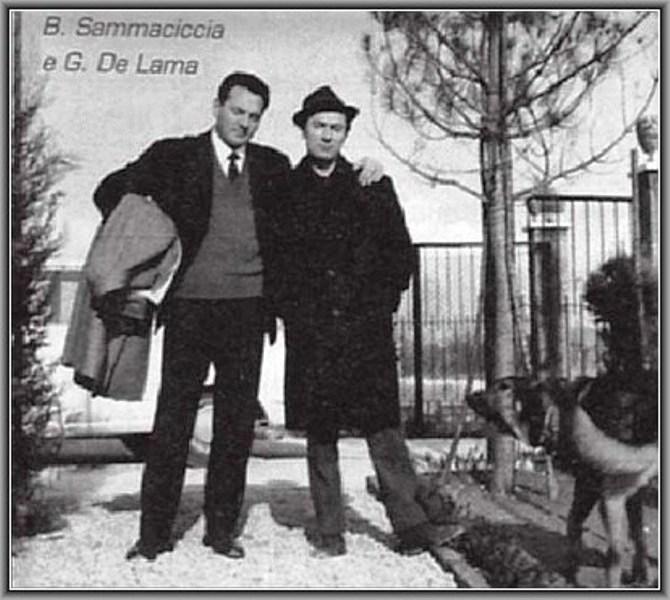 Storica foto di due grandi esponenti del caso Amicizia: a sinistra Bruno Sammaciccia, a destra Gaspare de Lama ancora in vita ed ultranovantenne