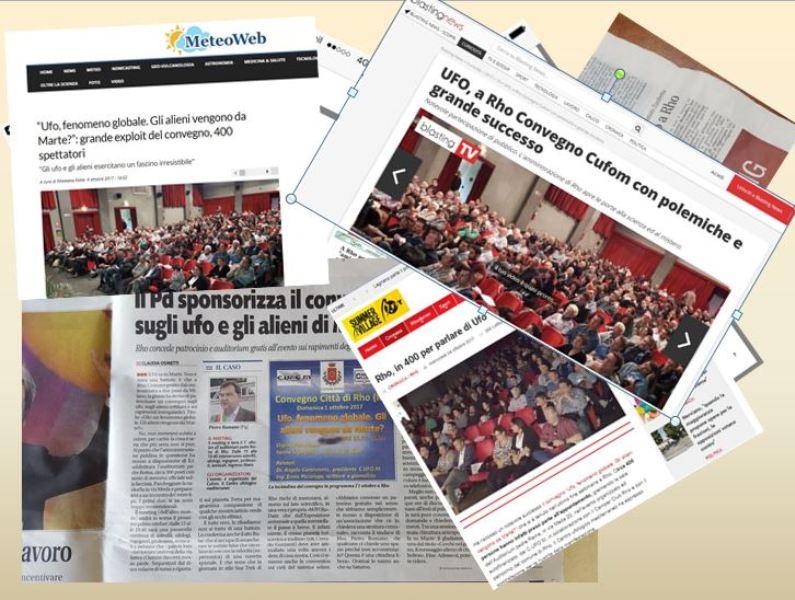Una minima parte dei giornali che si sono occupati del convegno di Rho. Tra essi anche Libero.