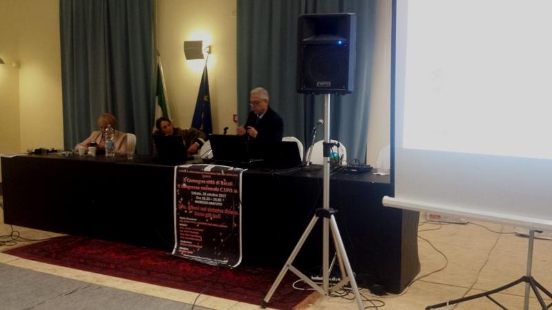 Il Dott. Nino Capobianco, psicologo clinico psicoterapeuta, svolge la sua relazione a Bacoli il 28 ottobre 2017