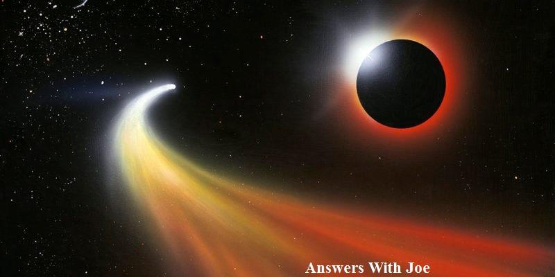 Comet passing a planet, artwork