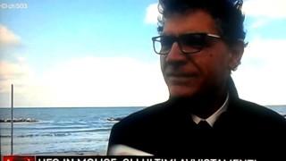 Il dott. Angelo Carannante, Presidente e Fondatore del C.UFO.M., durante un'intervista su RAI TRE, ospite del noto programma Agorà.