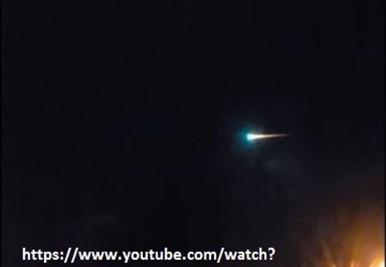 ufo meteora inghilterra capodanno