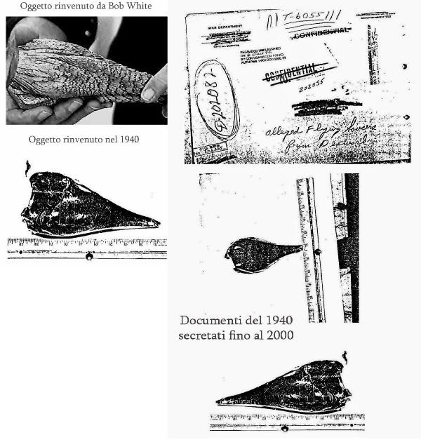 """Il materiale """"alieno"""" trovato da Robert Lee White"""
