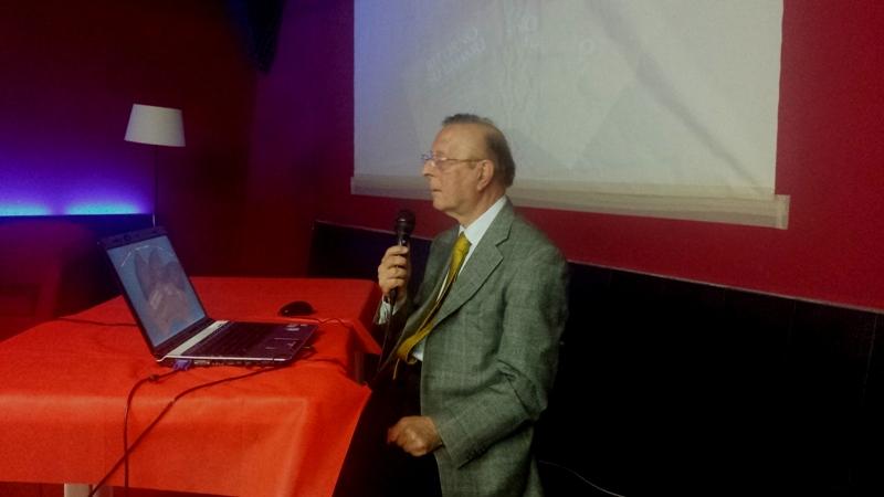 Il Presidente onorario Ennio Piccaluga durante il suo intervento