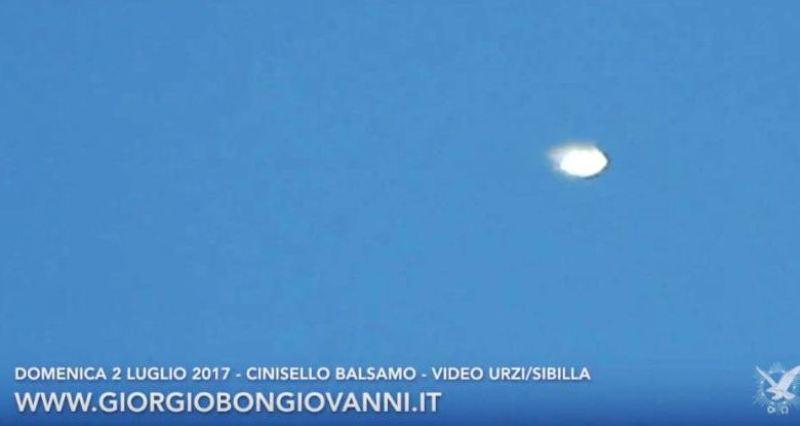 Fig.12. Ufo filmato da Urzi lo stesso giorno dell'avvistamento di Cassola