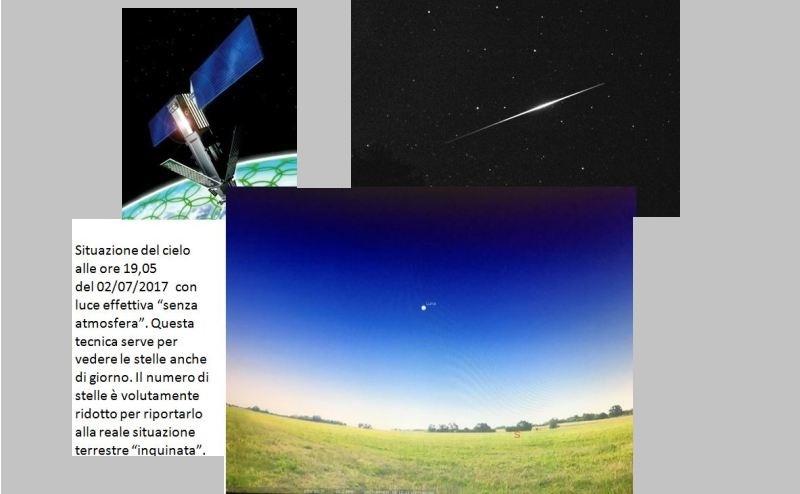 Fig.6. Situazione del cielo alle 19,05 del 2 luglio 2017
