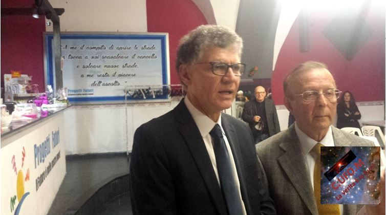 Carannante e Piccaluga durante un'intervista ai media presenti