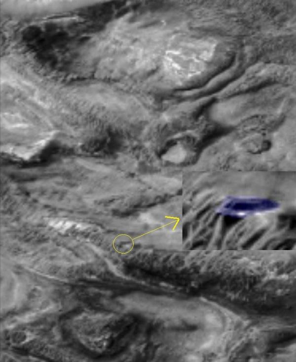 ufo marte astronave punto precisojpg