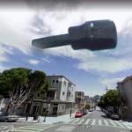 IL misterioso ufo immortalato dalle apparecchiature di Street View a San Francisco in California.