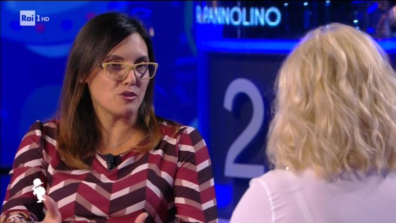 Fig.2. Marianna parla con Antonella Clerici durante la trasmissione.