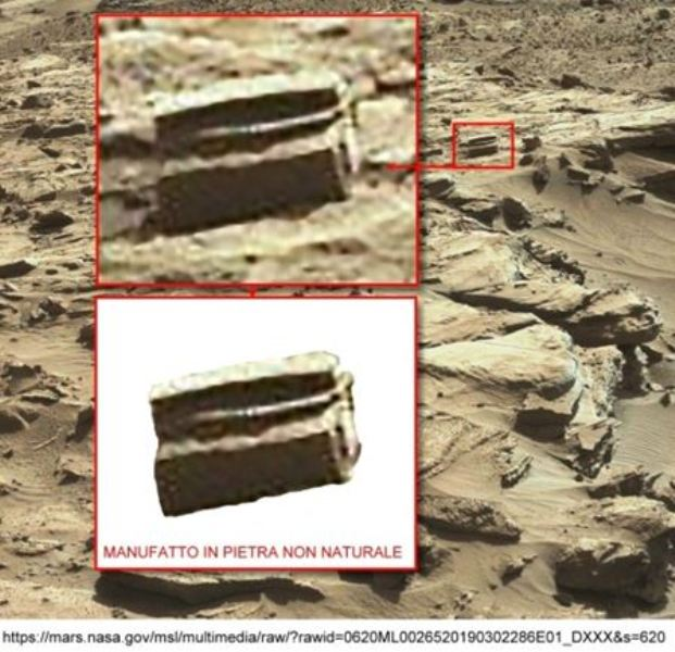 Figura 4. Altro strano artefatto (?) sul  Pianeta Rosso.