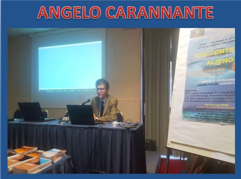 Il Presidente Angelo Carannante mentre è intento a relazionare.