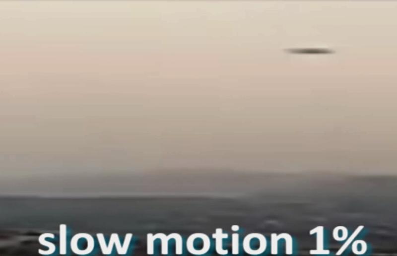 Abbiamo dovuto, addirittura, rallentare le immagini all'1% per cercare di osservare l'ufo. In altre parole abbiamo dovuto rallentare la velocità  dell'ufo di ben 100 volte circa.