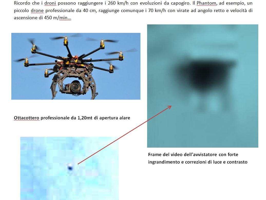 10 - UFO CATANIA ANALISI POSIZIONE UFO IN CIELO