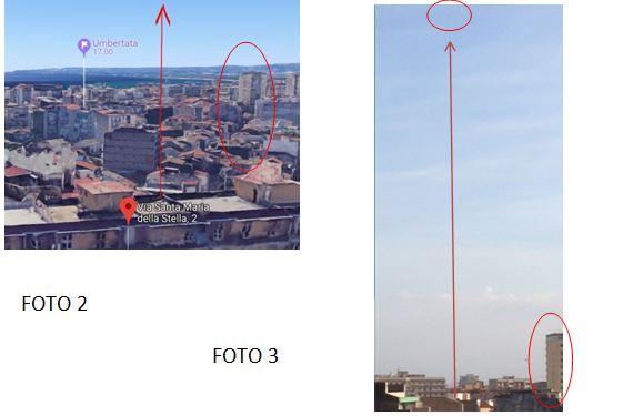2 - UFO CATANIA ANALISI POSIZIONE UFO IN CIELO