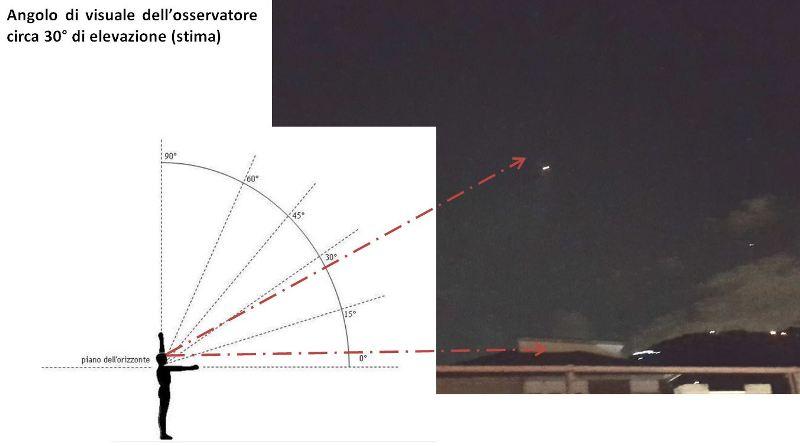 2 - Ufo Carrara, lavoro su posizione in cielo dell'ufo.