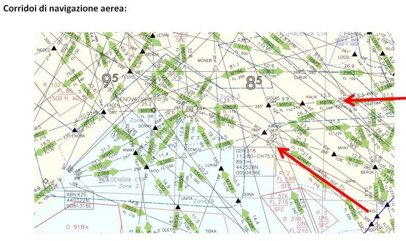 4 - UFO RONCO SCRIVIA. RELAZIONE POSIZIONE IN CIELO