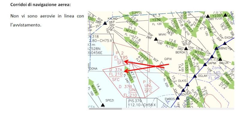 7 - Ufo Carrara, lavoro su posizione in cielo dell'ufo.
