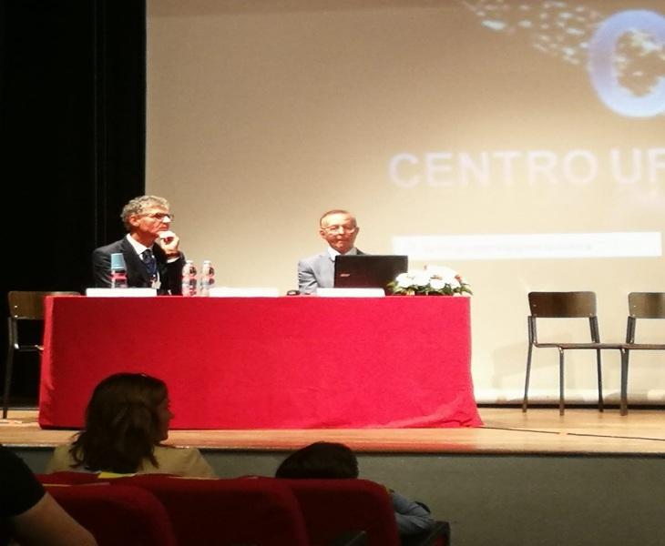Carannante e Piccaluga durante la relazione svolta in alternanza tra di loro.
