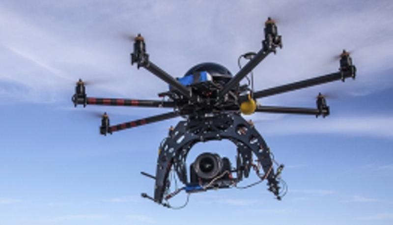Immagine di un quadricottero.