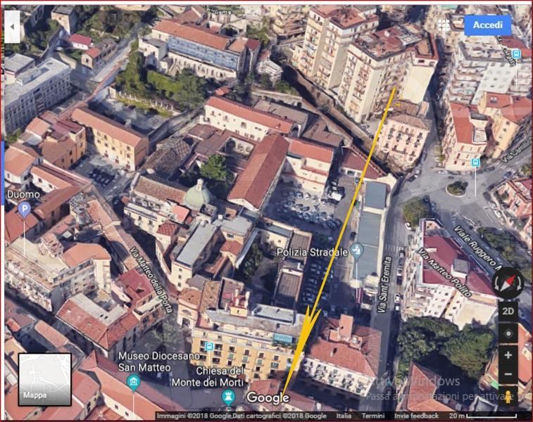 Fig. 4. Ufo Salerno. Veduta aerea di una zona dell'avvistamento
