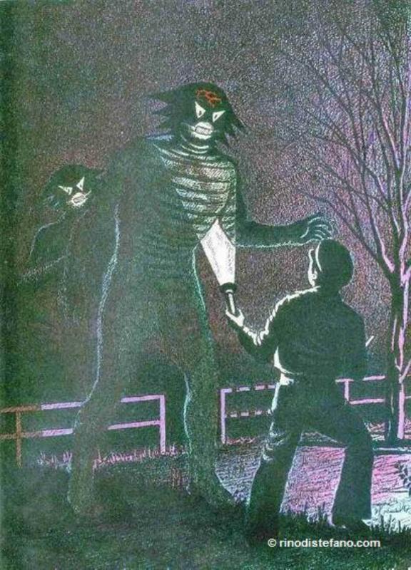 Una rappresentazione dell'orribile alieno incontrato da Zanfretta, della razza dei Dargos.