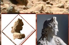 L'anomalia trovata somiglia notevolmente al mezzo busto di statua a destra. una somiglianza, non c'è che dire, davvero notevole