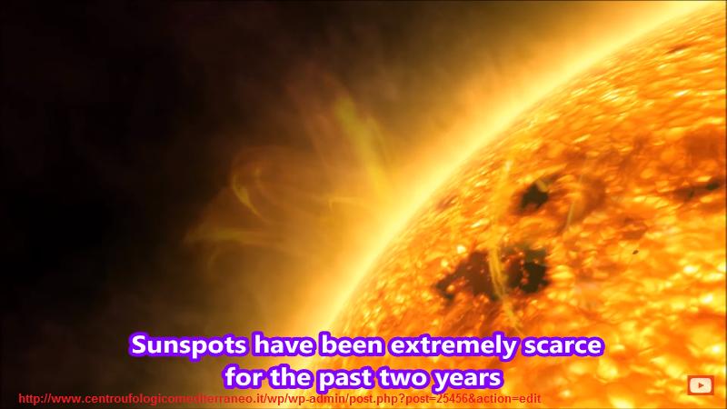 Sole. Esplosione di un  ufo? Immagine del sole