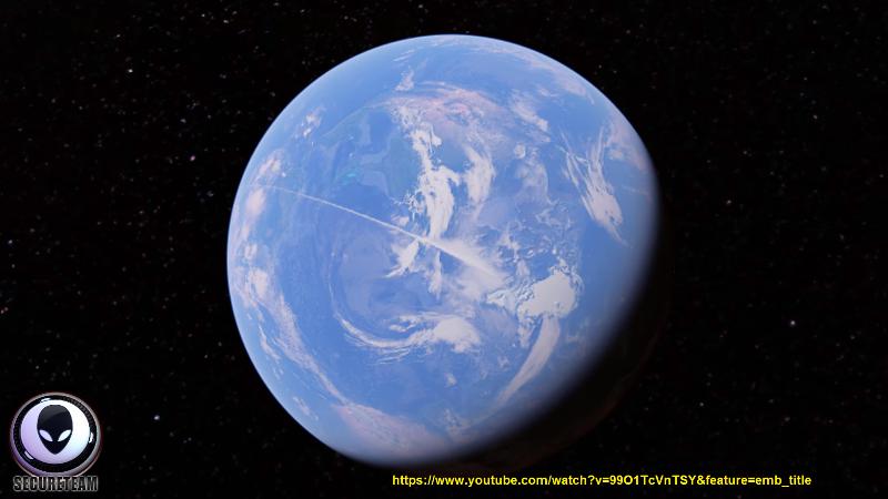 L'incredibile scia di condensazione che ha attraversato tutta la terra dal Polo sud al Polo Nord lasciata, probabilmente, da un velivolo fuori da ogni tecnologia umana.
