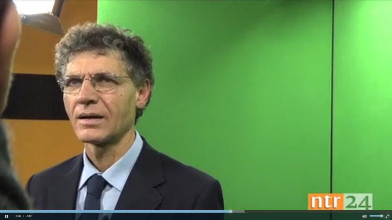 Il nostro Presidente Angelo Carannante durante l'intervista ad NTR24 emittente locale.