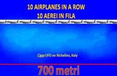 Il lunghissimo ufo di Nichelino. Il testimone ha dichiarato che la sua lunghezza era pari a 10 normali aerei passeggeri. Circa 700 metri dunque. Una vera e propria nave madre?