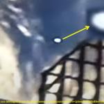 Uno degli ufo filmati durante la missione Space X