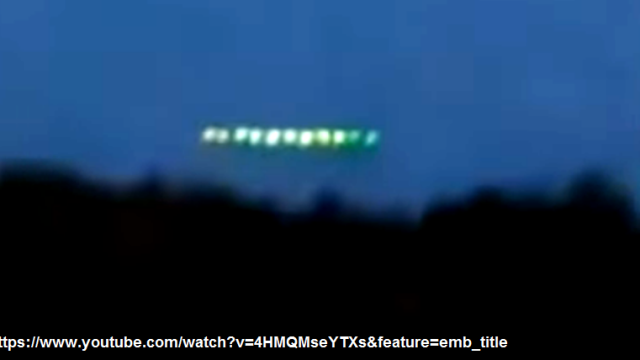 UFO RUSSIA, KRASNODAR. UNA FILE DI SFERE LUMINOSE (3)