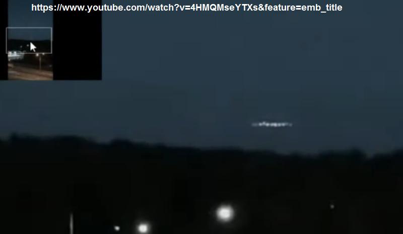 UFO RUSSIA, KRASNODAR. UNA FILE DI SFERE LUMINOSE