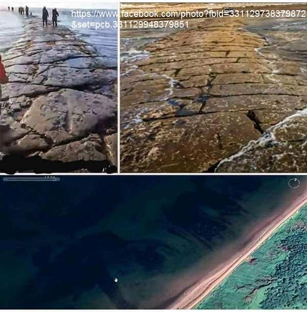 STRADA SOTTO L'OCEANO EMERSA A Sachalin