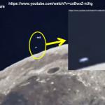 UFO LUNA, due in orbita attorno al nostro satellite naturale. uno sembra atterrare -