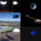 FOTO COLLAGE AVVISTAMENTI UFO ITALIA