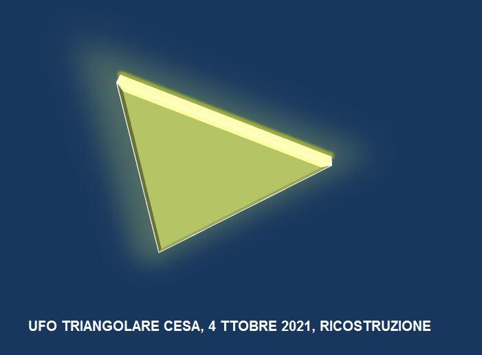 ufo triangolare, ricostruzione C.UFO.M. - 1